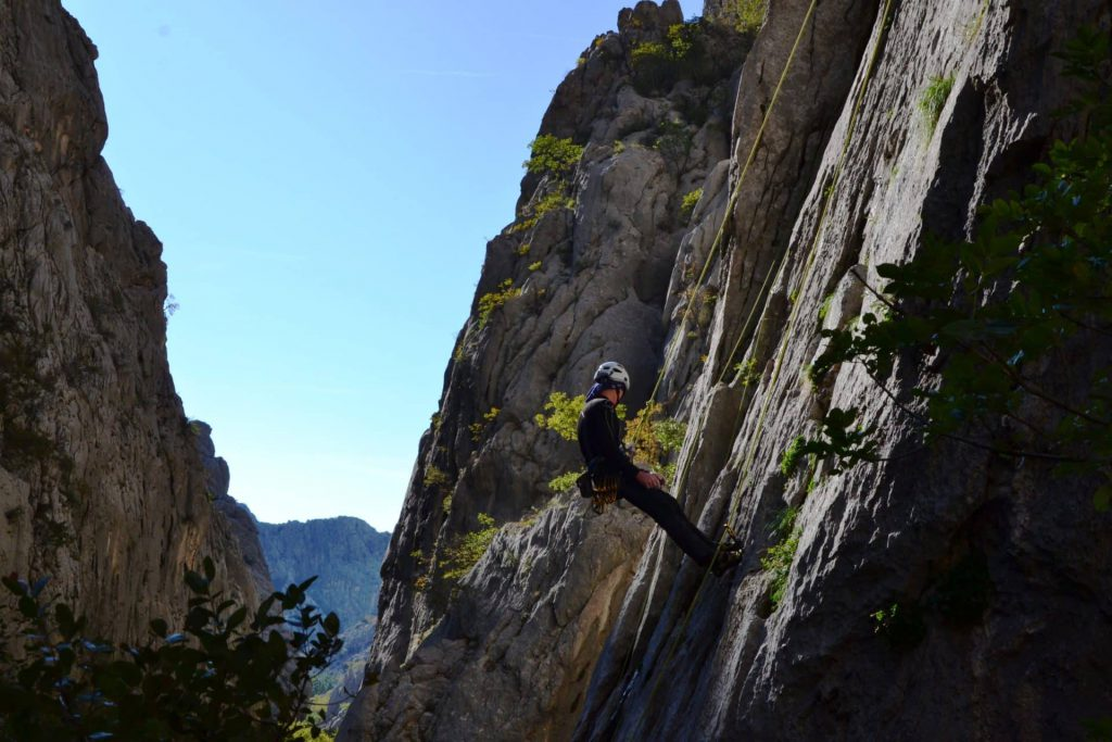 Paklenica National Park rock climbing for beginners in Croatia