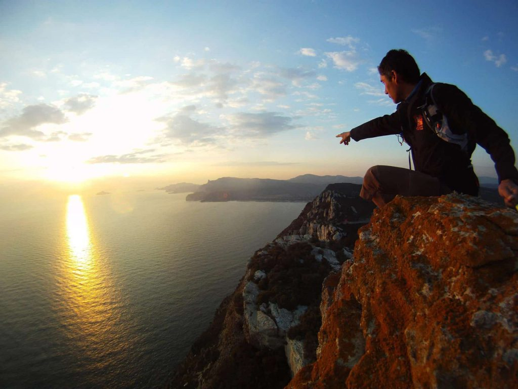 Rock climbing in les Calanques, Marseille